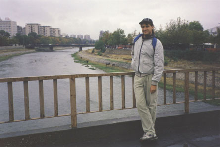 me on the bridge in Skopje